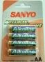 Bateria AA 1.5V Sanyo Alkal.